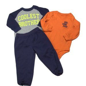 Carters Baby Boy 18 Mo Tees Sweatpants